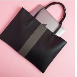 NWT Vince Camuto Black Luck Tote Bag